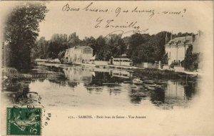 CPA Samois Petit bras de Seine, Vue Amont FRANCE (1101224)