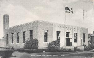 United States Post Office, Salem, Illinois, Early Postcard, Unused