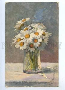 187588 FLOWERS marguerite daisy by LENGNICK Vintage PC