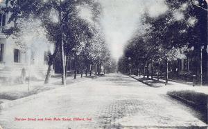 Elkhart Indiana~Division Street Homes~East From Main~Cobblestone~1907 Tom Jones