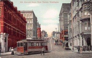 Street Scene, Eleventh Street, West, Tacoma, Washington, early postcard, unused