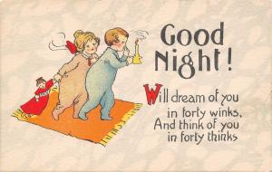Good Night~Boy & Girl~Pink Blue Sleeper PJs~Drag Doll~Candlestick~40 Winks~1920s