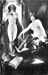 Salon de Paris Lupiac Tentation Nude Women Real Photo Vintage Postcard JJ658770