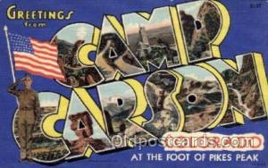 Camp Carson, Colorado Large Letter Military Post Card Postcards  Camp Carson,...