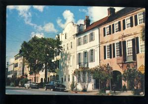 Charleston, South Carolina/SC Postcard, Rainbow Row Apartment Houses