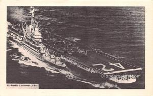 Military Battleship Postcard, Old Vintage Antique Military Ship Post Card USS...