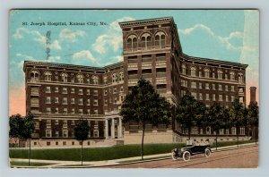 Kansas City MO-Missouri, St Joseph Hospital, Vintage Postcard