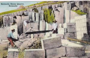 BERMUDA, 1900-1910s;  Quarry workers