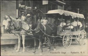 Apalachin NY Friendsville Stage Stagecoach c1910 Postcard