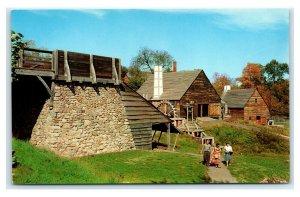 Postcard Saugus Ironworks Restoration, Saugus MA chrome E39