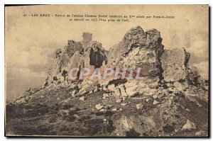 Old Postcard Les Baux ruins of the old feudal Castle built in the X century b...