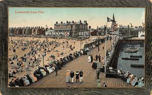 Lowestoft from Pier Esplanade Beach Harbour Boats Postcard