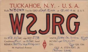 W2JRG Guy A Stewart Super Skyrider Tuckahoe New York 1936