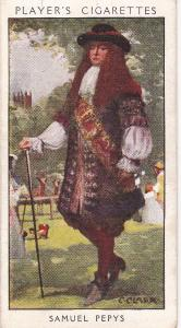 Cigarette Card Player's Dandies No 11 Samuel Pepys