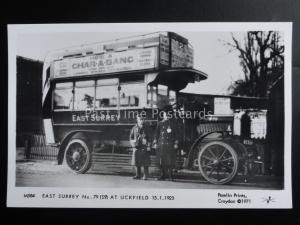 Omnibus EAST SURREY No79 AT UCKFIELD CHAR-A-BANC HIRE Pamlin Print Postcard M584