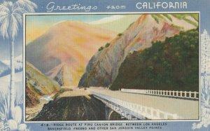 RIDGE ROUTE , California, 1930-40s ; Piru Canyon Bridge