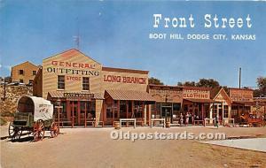 Front Street Replica, Boot Hill Dodge City, Kansas, KS, USA Postal Used Unknown
