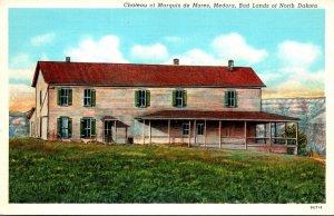 North Dakota Badlands Chateau Of Marquis de Mores Curteich