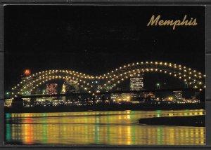 Tennessee, Memphis - Night View - [TN-050X]