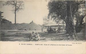 Gambia BATHURST Gabia river Kontu-ur view of a factory in full time of trade
