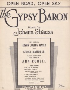 Open Road Open Sky The Gypsy Baron Strauss Classical Sheet Music