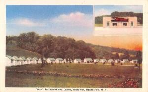 Hannacroix New York Steves Restaurant Cabins Antique Postcard KA688974