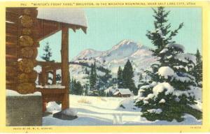 Linen of Winter Scene at Brighton near Salt Lake City Utah