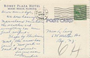 MIAMI BEACH , Florida , 1948 ; Roney Plaza Hotel, version 2