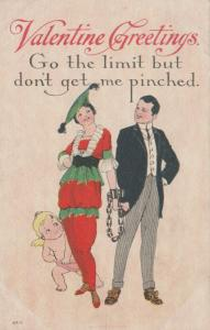 VALENTINE Greetings, 00-10s; Cupid, Couple shackled at the wrists