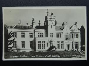 Devon TOTNES Hotel Chateau Bellevue (Demolished) - Old RP Postcard by Eversheds
