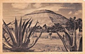 TEOTIHUACAN MEXICO~PIRAMIDE del SOL~INSTITUTO ANTROPOLOLOGIA POSTCARD