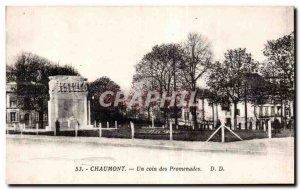 Old Postcard Chaumont corner walks