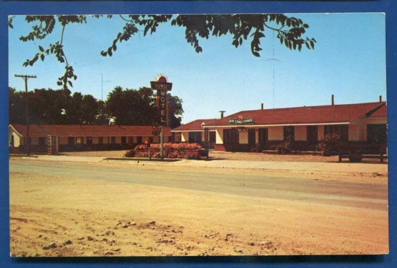 Sunset Motel Clayton New Mexico nm chrome Dexter Press 21659-B postcard
