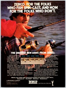 Zebco 6000's Old Fishing Reel Print Ad Zebco 6070  F1