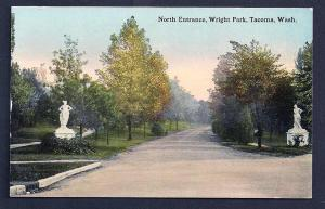 North Entrance Wright Park Tacoma Washington unused c1910