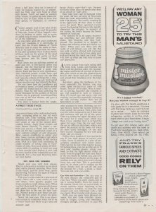 Mister Mustard 1965 Print Ad, A Man's Mustard, Are You Woman Enough to Buy It?