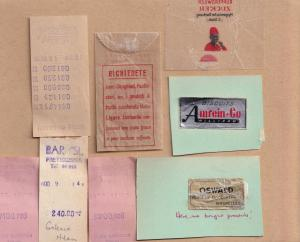Switzerland 1950s Sweet Sugar Wrappers & Confectionary 8x Receipt s