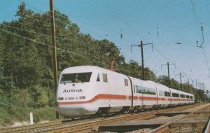 Amtrak's ICE Train Railroad Postcard High-Speed Inter-City Express