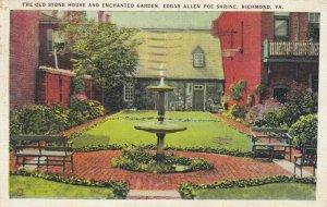 RICHMOND, VA, 1936; Old Stone House & Enchanted Garden, Edgar Allan Poe Shrine