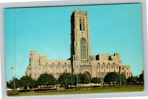 Indianapolis IN- Indiana, Scottish Rite Cathedral, Memorial, Chrome Postcard