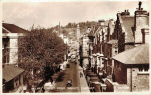 UK Kent Railway Street from Viaduct Chatham RPPC Posted 1953 03.32
