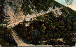 California Mt Wilson Auto Road The Climb From Eaton's Canyon Curteich