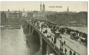 London Bridge, early 1900s used Postcard