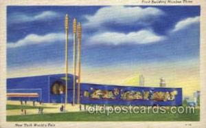 New York Worlds Fair 1939 exhibition postcard Post Card  Food Building