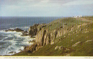Cornwall Postcard - Land's End and First and Last House in England - Ref TZ3345