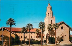 Phoenix Arizona~First Presbyterian Church w/Palm Trees~1967 Postcard