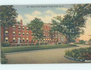 Linen HOSPITAL SCENE Glens Falls - Lake George New York NY W3148