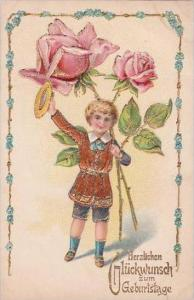Happy Birthday Young Boy with Roses