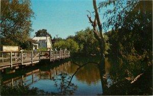 Children's Fishing Pier Lake Gerar Rehoboth Beach Delaware 1950s Postcard 10597