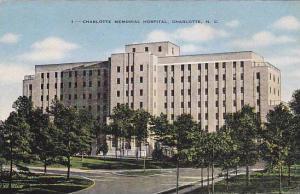 Charlotte Memorial Hospital, Charlotte, North Carolina, 1930-1940s